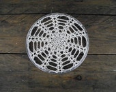 framed doily ~ whimsical home decor ~ vintage embroidery hoop