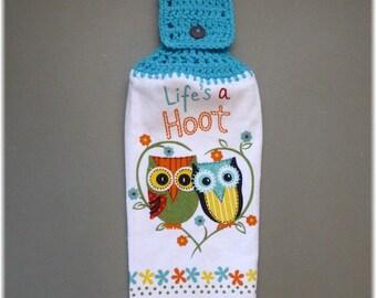 Hanging Kitchen Towel Owls