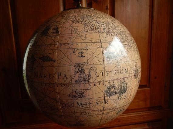 old world globe hanging globe pendant by solachristine on etsy. Black Bedroom Furniture Sets. Home Design Ideas