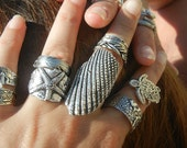 Nautical Ring, Nautical Jewelry, Sterling  Silver Nautical Ring, Shell Jewelry, SILVER SHELL Ring, Nautical Style Jewelry, Nautical Fashion