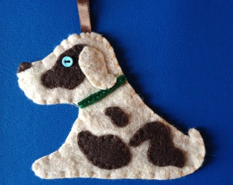 brown spotty pup felty