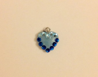 Blue Heart Swarovski Necklace Pendant