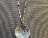 Hugs and kisses for your valentine XOX Sterling Silver pendant on chain with patina
