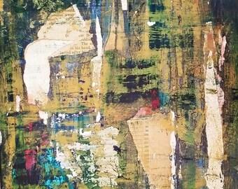 Secret Garden 10x10 Orginal Abstract Acrylic Art