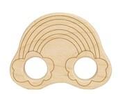 Rainbow Wood Toy Teether
