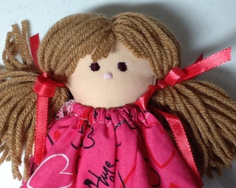 Doll - My First Doll Blond Hair with Blue Eyes, Small Fabric Doll