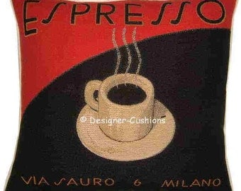 Espresso Coffee Tapestry Cushion Sham