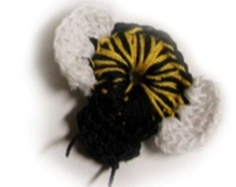 Darling Bumblee Bee crochet pattern - Instant Download for cute little Bee crochet accent