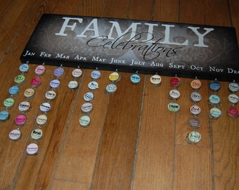 """FAMILY CELEBRATIONS Sign Only- Giclee MoUNTED prints- 8"""" x 24"""""""