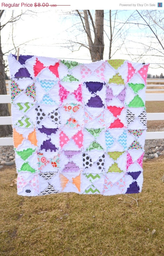 Hourglass rag quilt pattern