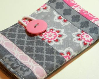 Card Keeper in Tea Rose Floral Stripe