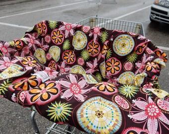 Shopping Cart cover for girl....Carnival Bloom Mini Mooo
