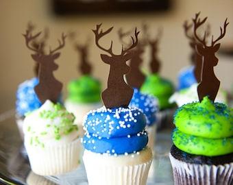 Deer Head Cupcake Toppers