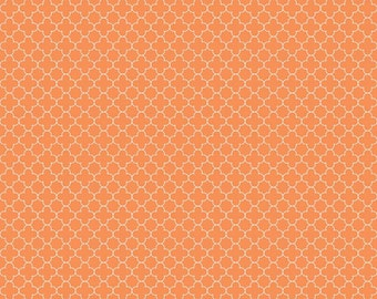 Mini Quatrefoil in Orange (C345-60)