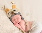 Newborn Hat, Infant Hat, Baby Owl Hat, Baby Girl Hat, Newborn Owl Hat, Baby Photo Prop, Baby Boy Owl Hat, Crochet Baby Hat, Sleepy Owl