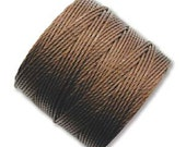 S-Lon #18 Bead Cord Brown Multi Filament Twisted Nylon Cord 77 yards