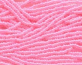 8/0 Pink Ceylon Genuine Czech Glass Preciosa Rocaille Seed Beads 38 grams