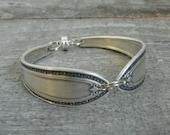 Silver Spoon Bracelet, Filagree Pattern, Silverware Jewelry