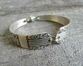 Silver Spoon Bracelet Silverware Jewelry- Harmony 1938 Pattern