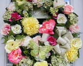 Spring Wreath, Luxury Wreaths, Door Wreath, Spring Wreaths, Mother's Day Gift, Designer Wreath, Easter Wreath, Petal Pusher's, Summer wreath