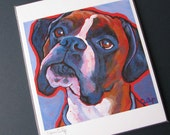 BOXER Dog 8x10 Signed Art Print from Painting by Lynn Culp