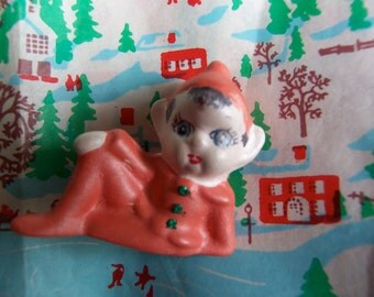 tiny ceramic elf