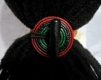 The Colors of Africa Dreadlocks Hair tie or Ponytail Holder for Dreads or Thick Hair or Sisterlocks