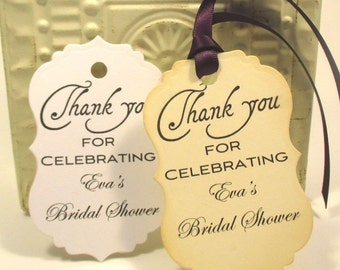 Bridal Shower Favor Tags -  Favors - Personalized
