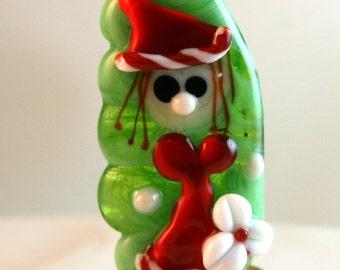 Ms Santa Claus - BWB Handmade Lampwork Glass Artist OOAK Bead SRA
