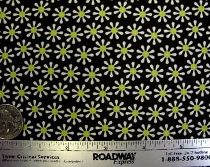 SALE Michael Miller DAISY FLOWERS Yellow Brown Quilt Fabric - by the Yard - Small Scale Design Out of Print - Last Piece