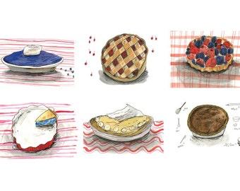 Pie postcard pack