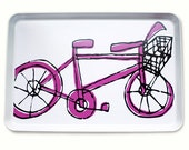 Bicycle Tray - more colors - BPA FREE - Entertaining Platter - Serving Tray - bicycle enthusiast - housewarming gift - american made