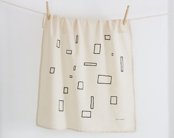 ENTRESOL Tea Towel - Screen Printed Organic Cotton Flour Sack Towel - Soft and Absorbent Dish Towel - The Southwest Collection
