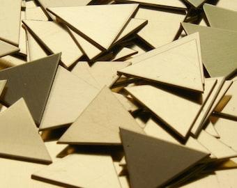 Brass Triangles - 20 Gauge, stamping blanks, metal blanks, stamping supplies, geometric stamping blanks, Bopper, hand stamping blanks