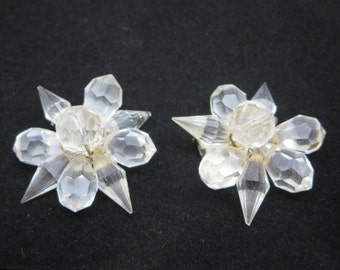 Glass Beaded Dress Clips - 1930s