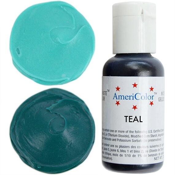 americolor teal gel paste food color high quality food