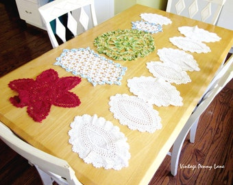 Vintage Doily Lot, Crocheted Doilies