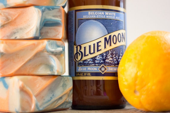blue moon beer soap