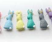 Cute Bunny Rabbit decorative garland banner pastels