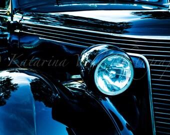 California Car Show: Vintage Ford Headlight