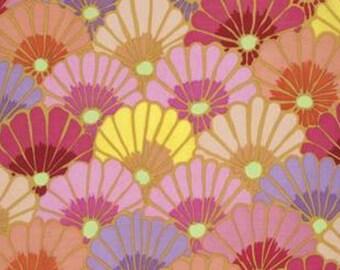 Kaffe Fassett Thousand Flowers Pink Fabric 1 yard