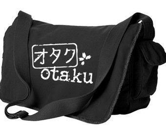 Japan Geek Bag anime Otaku messenger bag japanese laptop bag anime school bag kanji bag cute anime bag hipster book bag college bag