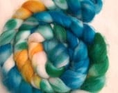 Hand Dyed Roving - Superwash Merino - Spinning Wool from New Zealand