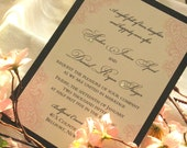Layered invitation card set with jewels (Sample)