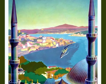 Istanbul Travel Poster Refrigerator Magnet - FREE US SHIPPING
