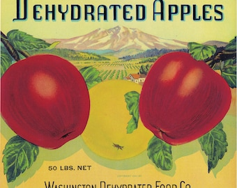 Southern Choice Apple Fruit Crate Label