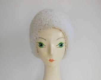vintage swin cap / Thrills and Frills Vintage 50's 60's Pink Bathing Swim Cap