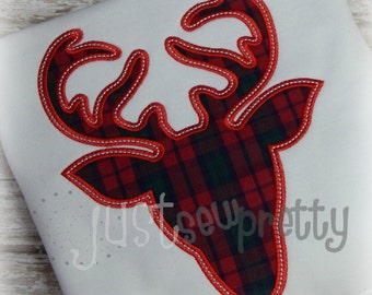 Deer Silhouette Woodland Embroidery Applique Design
