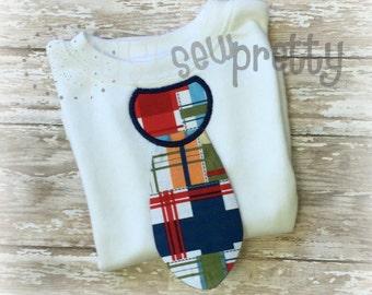 3D Neck Tie Applique In The Hoop Machine Embroidery Applique Design