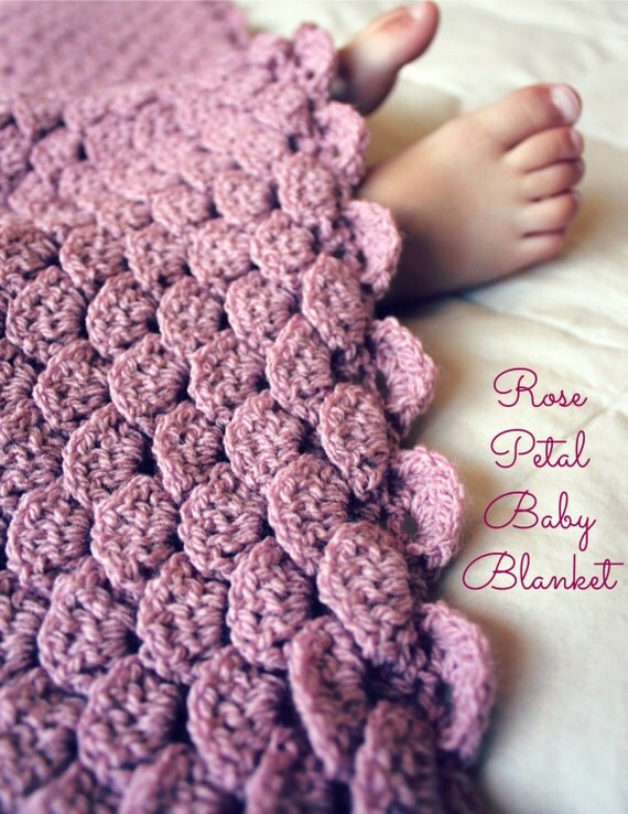 Crochet Patterns That Look Like Quilts : ... Now - CROCHET PATTERN Rose Petal Baby Blanket - Any Size - Pattern PDF